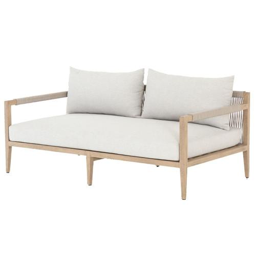 "Sherwood Natural Teak Outdoor Sofa 63"""