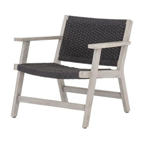 Delano Grey Teak Outdoor Rope Chair