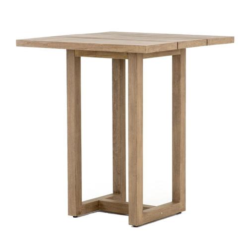 "Stapleton Brown Teak Wood Square Outdoor Bar Table 36"""