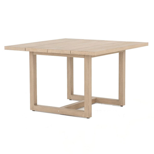 Stapleton Brown Teak Wood Square Outdoor Dining Table 48""