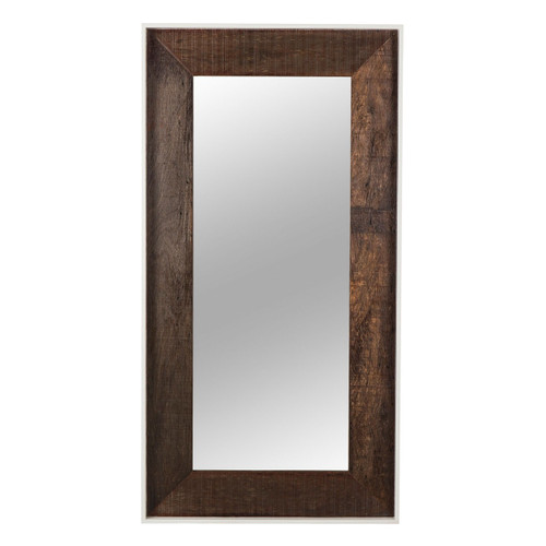 Cardosa Reclaimed Wood + White Lacquer Floor Mirror