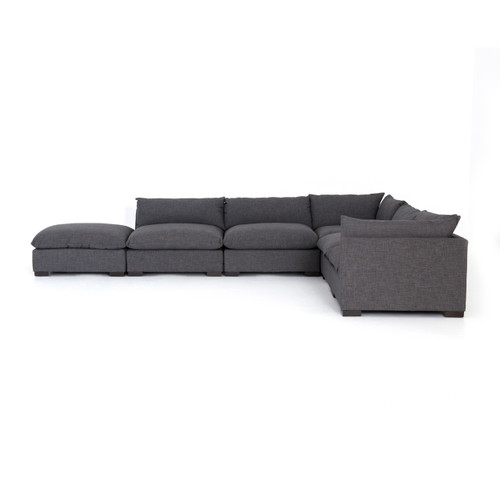 Groovy Westworld Modern Gray 6 Piece Modular Sectional Sofa 158 Machost Co Dining Chair Design Ideas Machostcouk