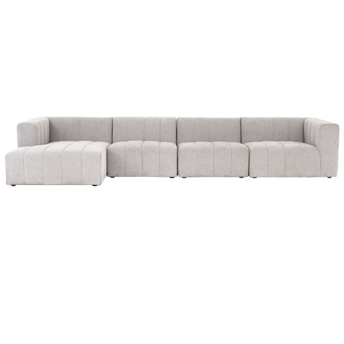 Langham Channel Tufted 4 Piece Modular Sectional