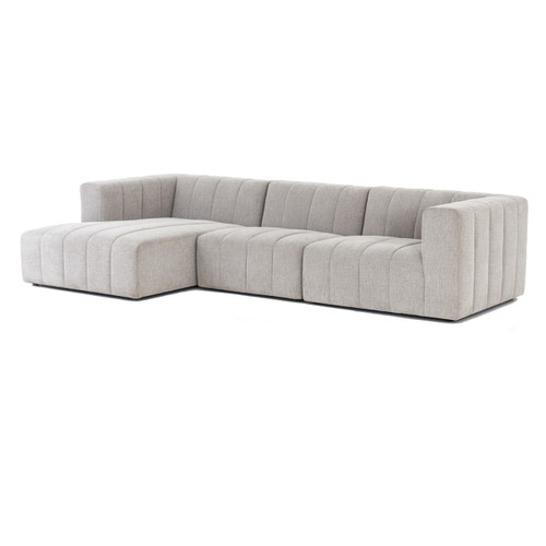 Langham Channel Tufted 3 Piece Modular Sectional 123""