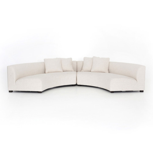 Fabulous Liam Modern Cream 2 Piece Curved Sectional Sofa Caraccident5 Cool Chair Designs And Ideas Caraccident5Info