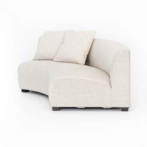 Liam Modern Cream Curved Sofa 106\