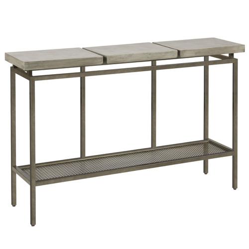 """Garrison Concrete Top Bronze Base Console Table 48"""""""