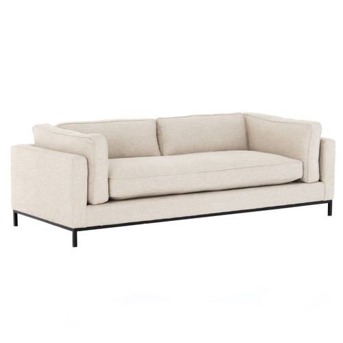 Grammercy Sand Fabric Modern Arm Sofa 92""