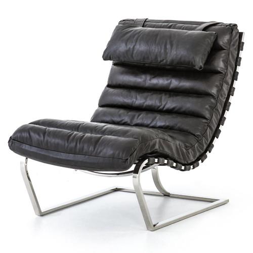 Goodwyn Ebony Leather MR Lounge Chair
