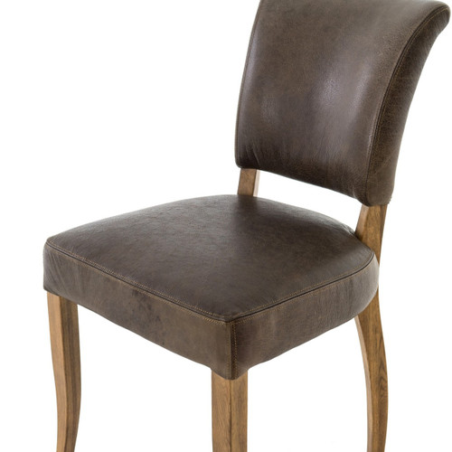 Groovy Mimi Pampas Charcoal Leather Dining Chair Gmtry Best Dining Table And Chair Ideas Images Gmtryco