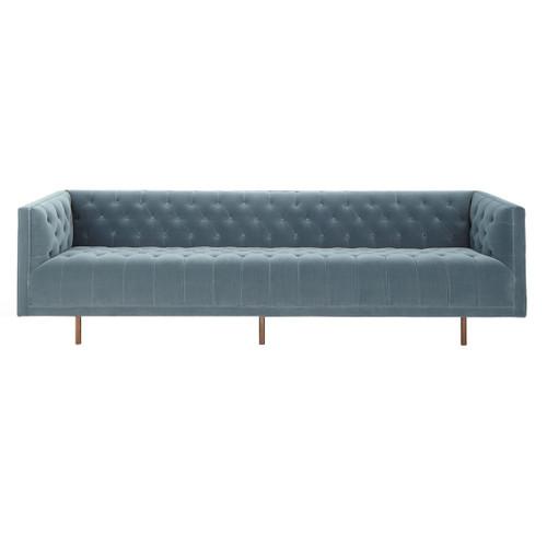 """Lynette Blue Velvet Tufted Sofa 108"""""""