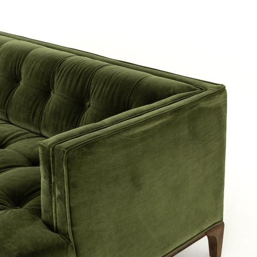 Dylan Modern Olive Green Velvet Tufted Sectional Sofa   Zin Home ...