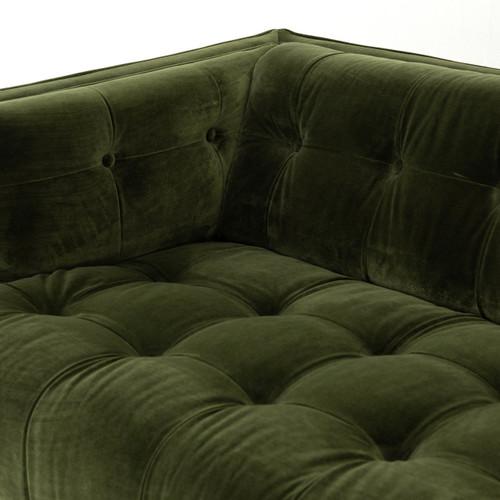 Dylan Modern Olive Green Velvet Tufted Sectional Sofa | Zin Home ...