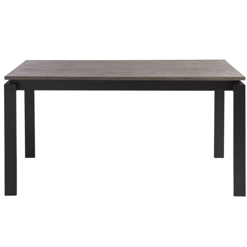 Parsons Grey Oak Top/ Dark Bronze Base Dining Tables 74""