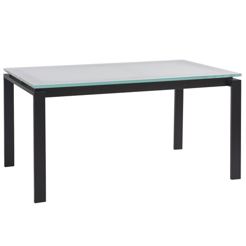 """Parsons Glass Top/ Dark Bronze Base Dining Table 74"""""""