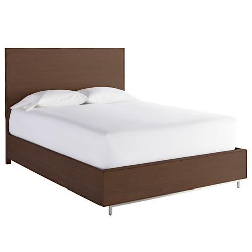 Urban Modern Walnut King Platform Bed Frame with Storage