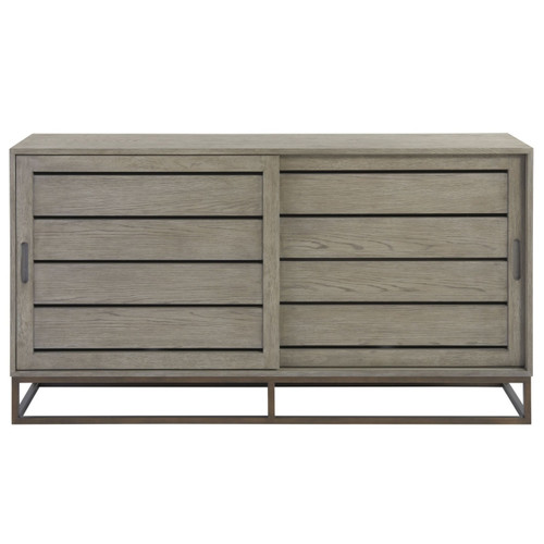 Gabby Modern Oak Sliding Door Media Cabinet 64""