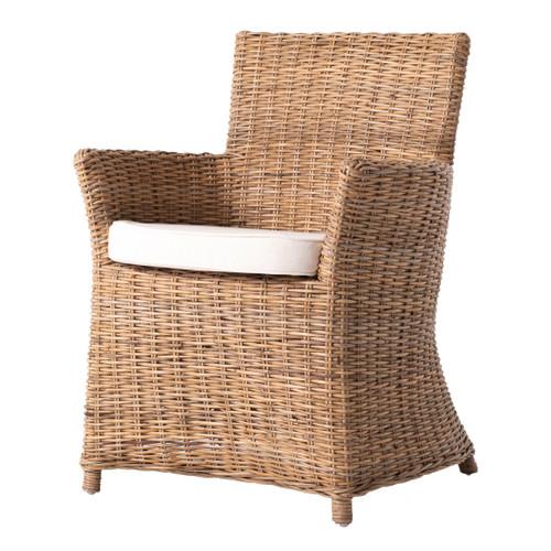 Bonny Coastal Rattan Dining Chair with Cushion