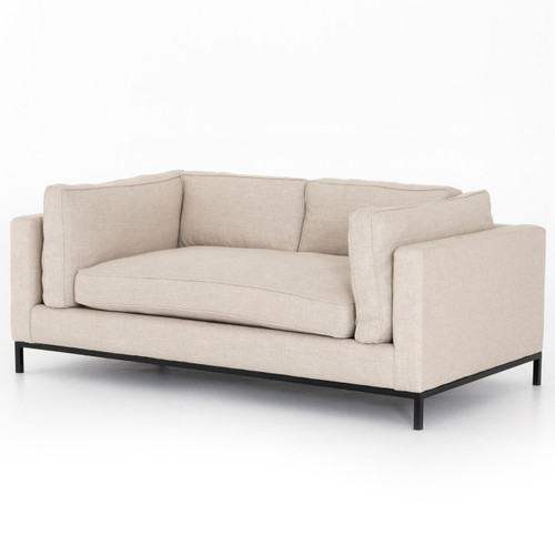 Grammercy Modern Sand Small Sofa 72""