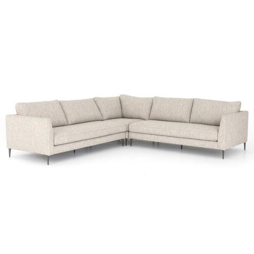 Kailor Modern Neutral Fabric Corner Sectional Sofa