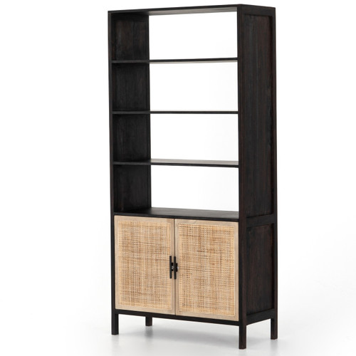 Audrey Woven Cane Wicker Door Bookshelf