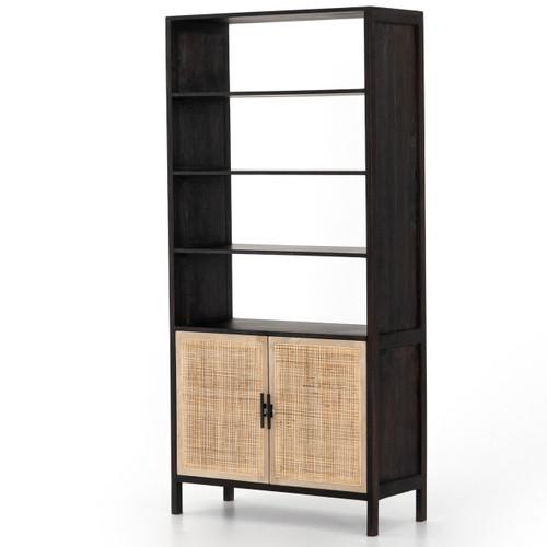 Audrey Woven Cane Wicker Door Bookshelf