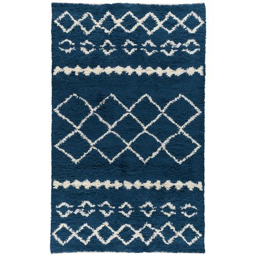Bohemian Prussian Blue Shag Area Rugs