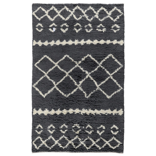 Bohemian Smoke Gray Shag Area Rugs