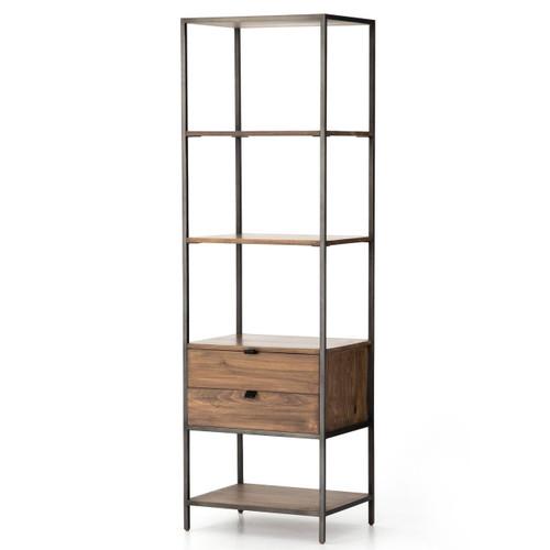 "Fulton Industrial Modular Open + Closed Bookshelf 24"""