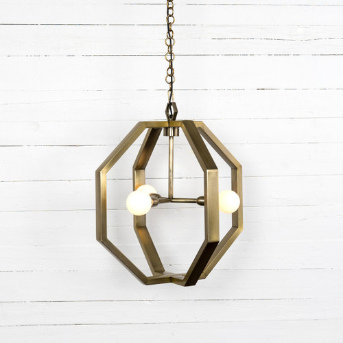 Cooper Industrial Antique Brass Chandelier