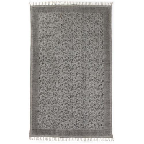 Faded Print Flatweave Dhurrie Area Rugs
