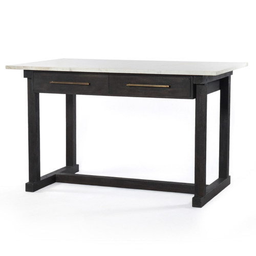 """Cayson French Country Marble Top Counter Table 60"""""""