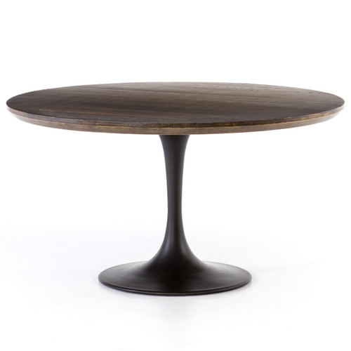 Aero Tulip English Oak Round Dining Table 55""
