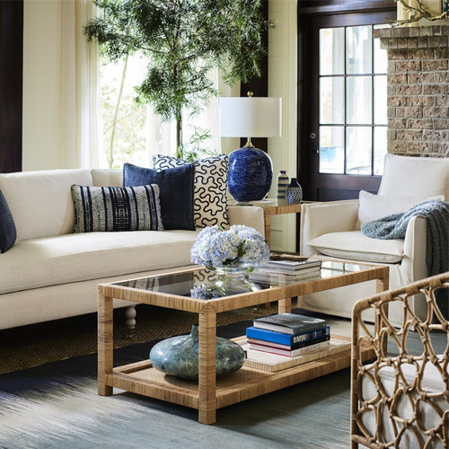 Coastal Living Siesta Key Upholstered Swivel Chair Zin Home
