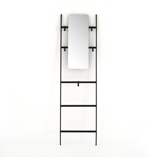 Jay Leaning Entryway Ladder With Mirror