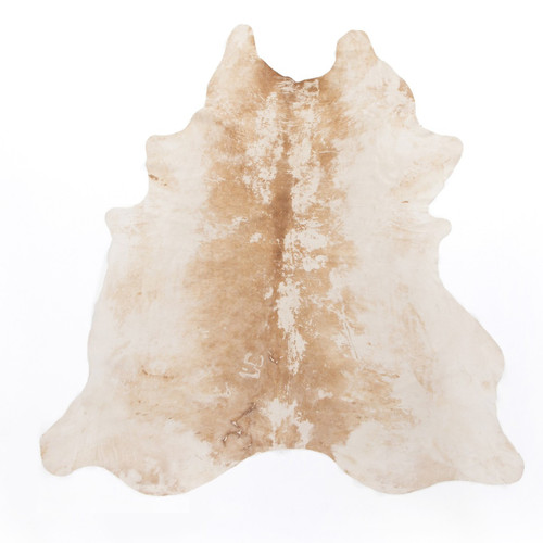 Modern Natural Brown Cowhide Rug