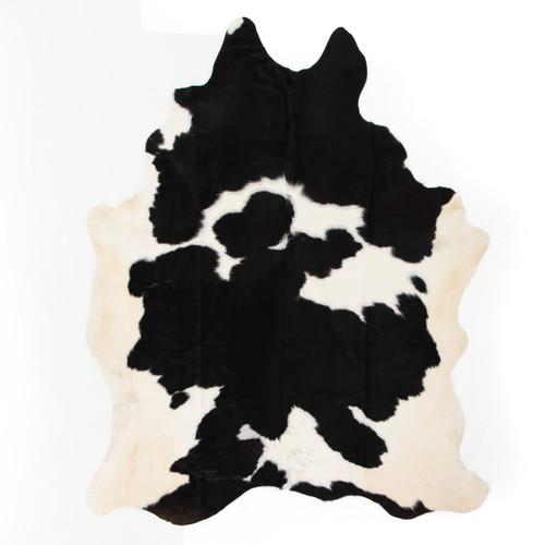 Modern Black And White Cowhide Rug