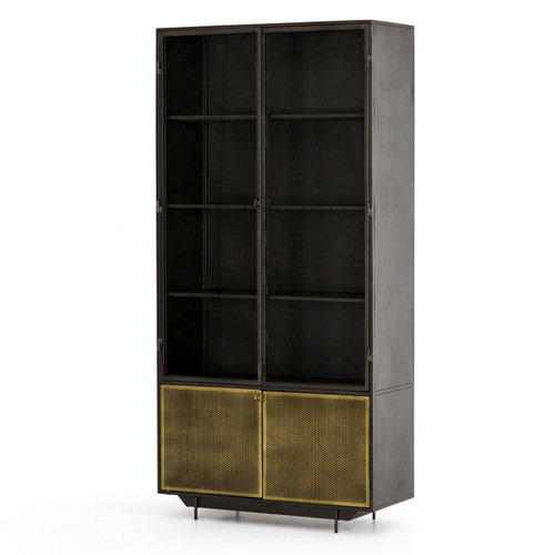 Hendrick Industrial Mesh 4 Door Tall Display Cabinet