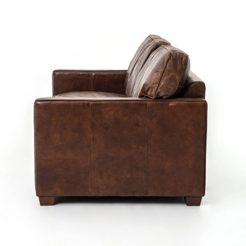 Larkin 3 Seater Vintage Cigar Distressed Leather Sofa