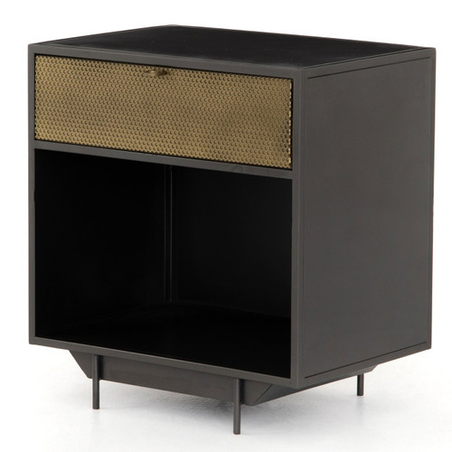 Hendrick Industrial Mesh 1 Drawer Nightstand