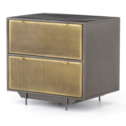 Hendrick Industrial Mesh 2-Drawer Filing Cabinet
