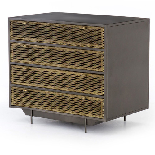 Hendrick Industrial Mesh File Drawer Cabinet