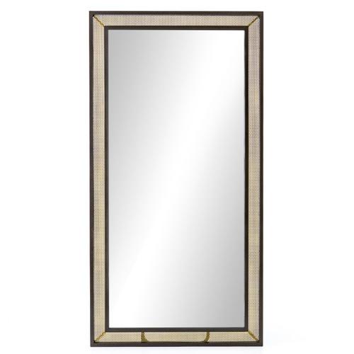 Hendrick Industrial Iron Mesh Frame Floor Mirror