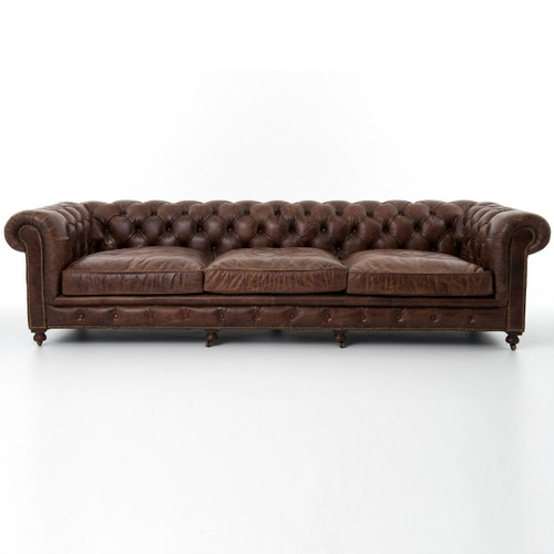 Awe Inspiring Conrad 118 Vintage Cigar Leather Chesterfield Sofa Download Free Architecture Designs Scobabritishbridgeorg