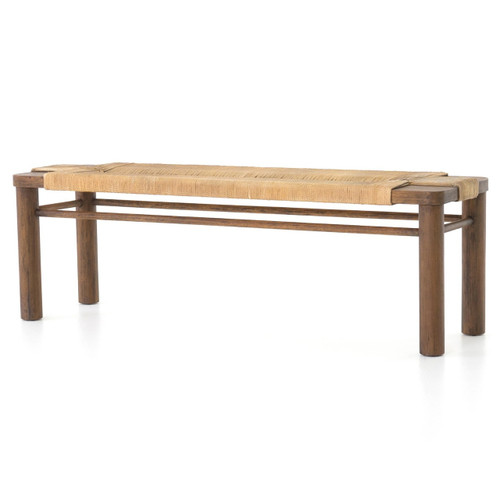 """Shona Woven Rope Bed End Bench 60"""""""