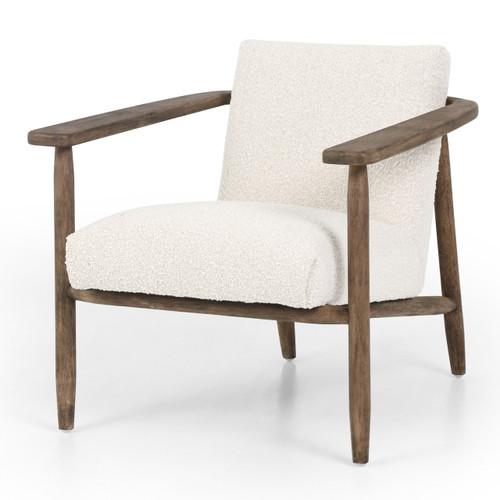 Arnett Modern Cream Bouclé Club Chair