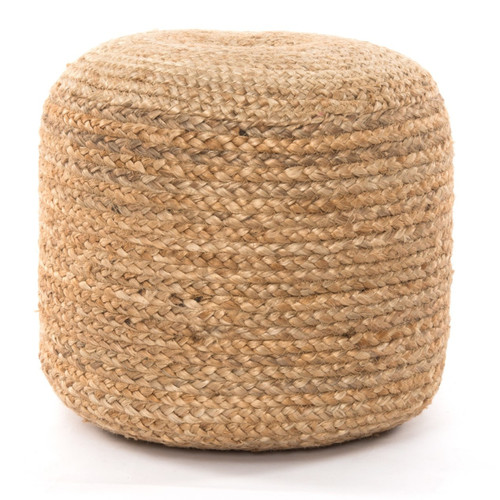 Boho Braided Natural Jute Pouf