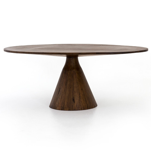 """Bronx Old Wood Oval Pedestal Dining Table 84"""""""