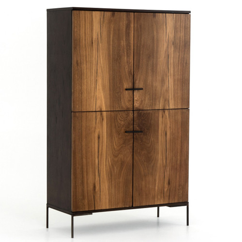 Cuzco Yukas Wood 4 Door Tall Cabinet 71""