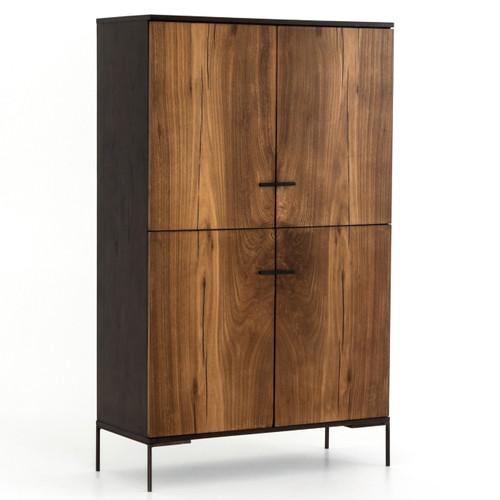 """Cuzco Yukas Wood 4 Door Tall Cabinet 71"""""""
